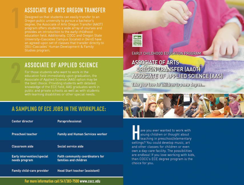 cocc early childhood education brochure